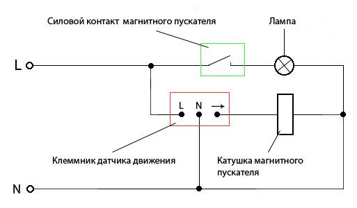 Схема для включения уличного света