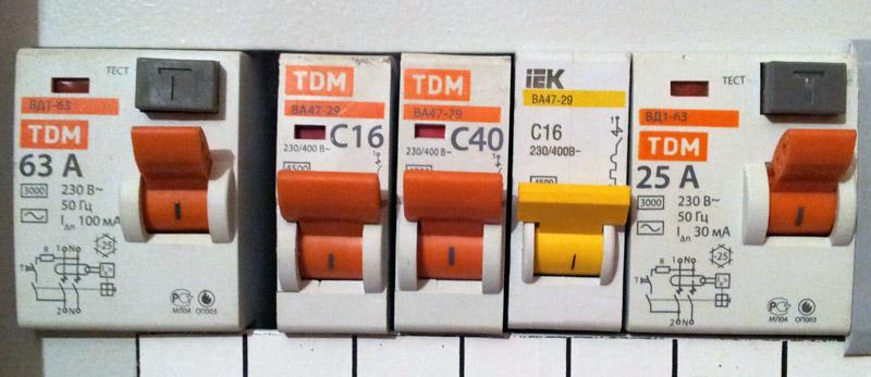 Дополнительный автомат для электроплиты