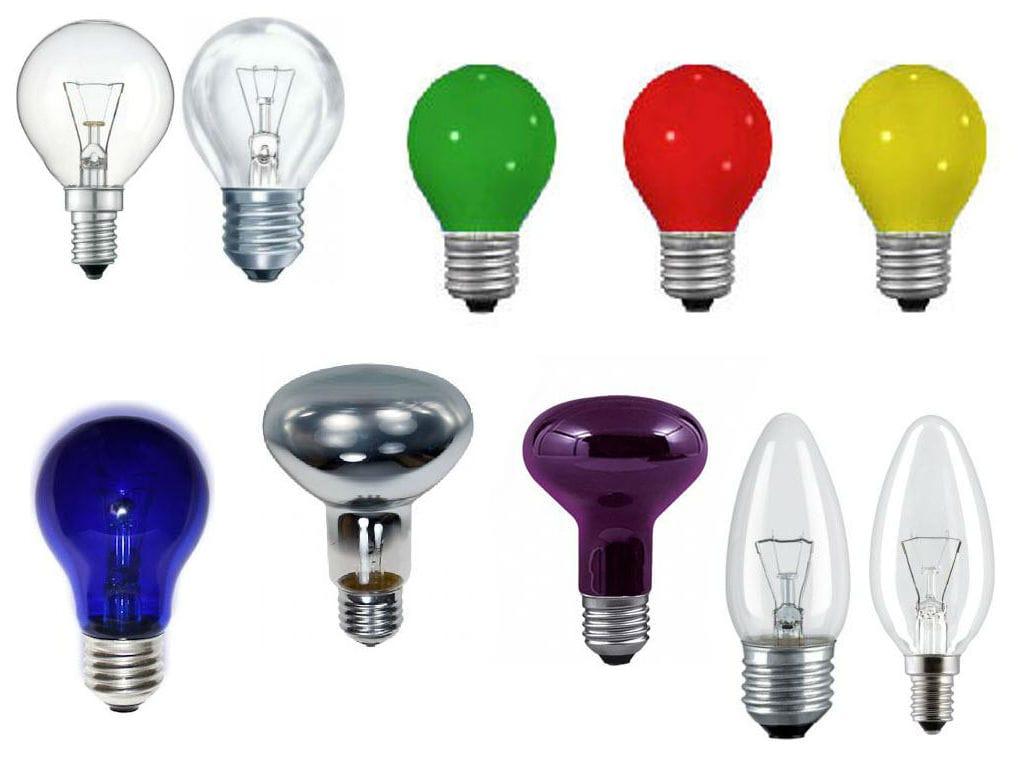 Виды ламп накаливания